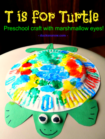 T is for Turtle preschool craft
