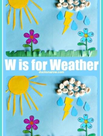Preschool weather craft with marshmallow clouds #preschool