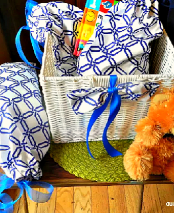 Step by step on how to put together a baby gift basket