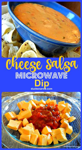 Cheese salsa microwave dip #recipes