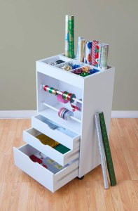 Wrapping paper storage cart #ad