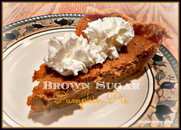 Delicious brown sugar pumpkin pie