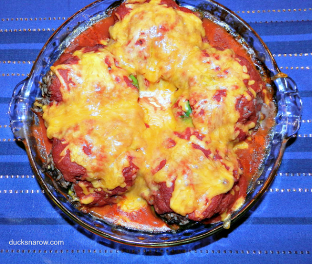 cheese covered stuffed peppers