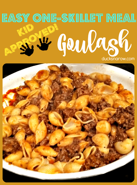 Easy one-skillet meal! #DucksnaRow #family #dinner #easymeals #kidapproved