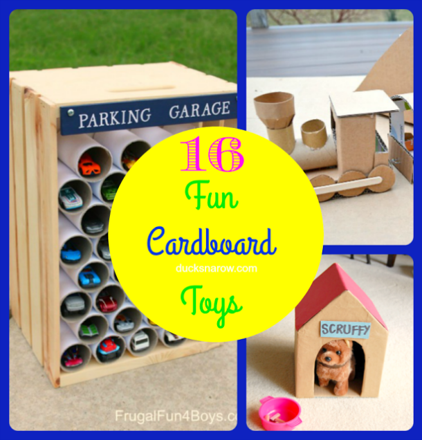 Toys made from cardboard boxes are some of the coolest toys around! #DIY