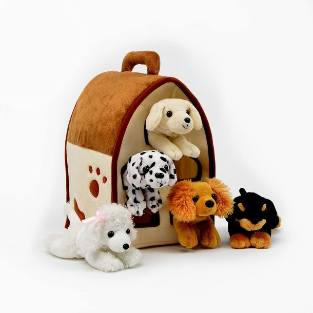 Plush dog house toy for kids #ad
