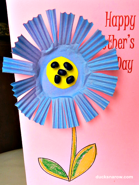 Mother's Day; preschool craft; cupcake liner craft