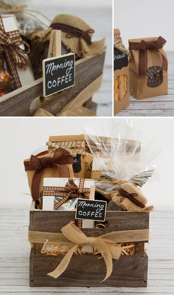 coffee, gift basket, moms