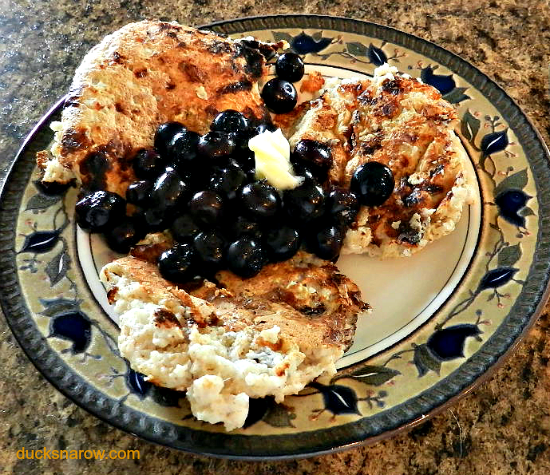 Trim Healthy Mama oatmeal pancakes E meal #DucksnaRow #THM