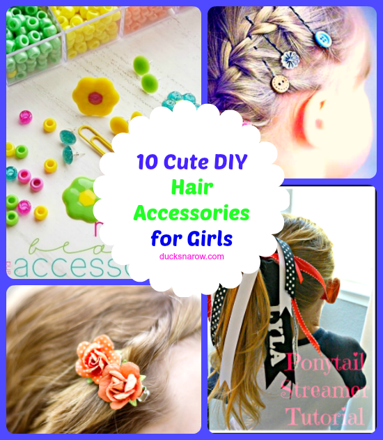 443df85e6536b 10 Easy To Make Hair Accessories For Girls - Ducks 'n a Row