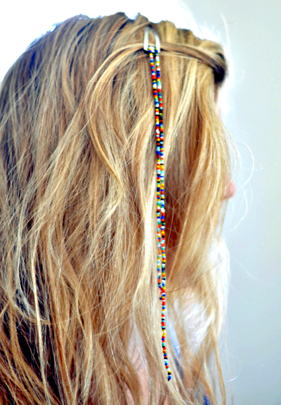 Hanging beads hair decorations #DIY