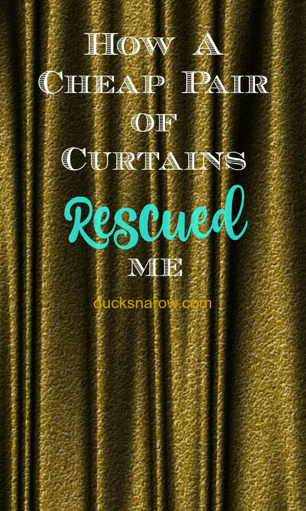 How a cheap pair of curtains rescued me from embarassment! #tips