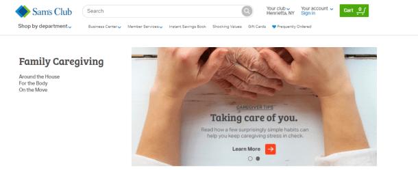 Famlycaregiving department at Sam's Club Online #ad