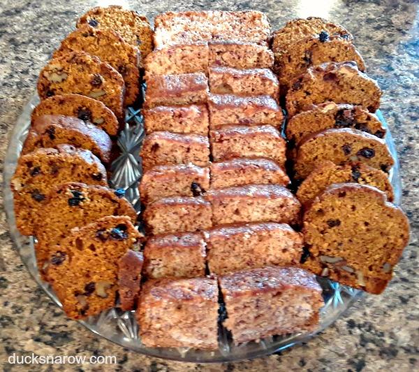 Pumpkin raisin walnut sweet bread and strawberry bread #recipes