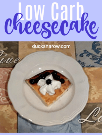 Delicious low carb New York Style cheesecake