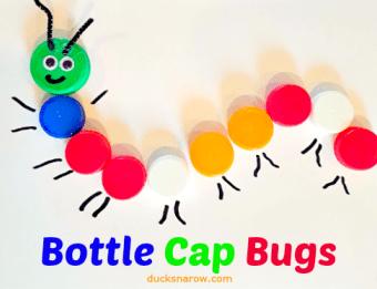 Cute little activity for preschoolers using bottle caps