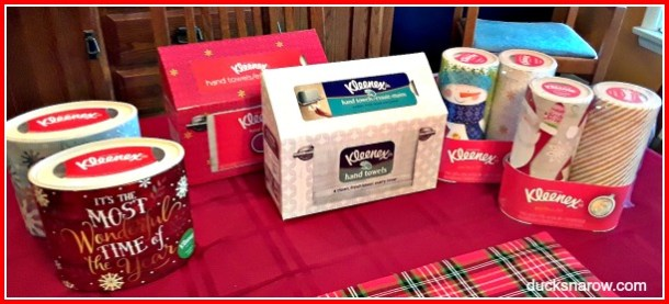 Holiday paper products from Kleenex