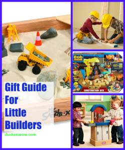 Toys and props for children to pretend to be builders