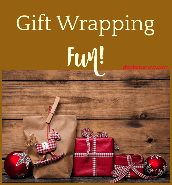Wrapping the gifts is a fun part of the holidays too - make the most of it! #Christmas