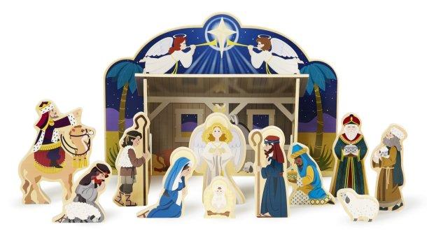 Kids wooden nativity scene from Melissa & Doug #nativity #Christmasdecor