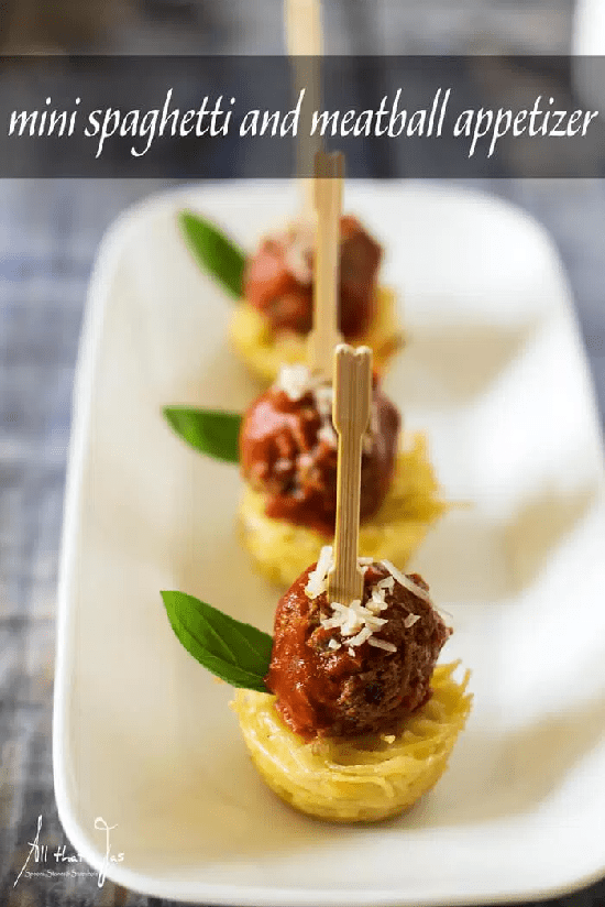 Appetizers for spaghetti and meatball lovers! #recipes