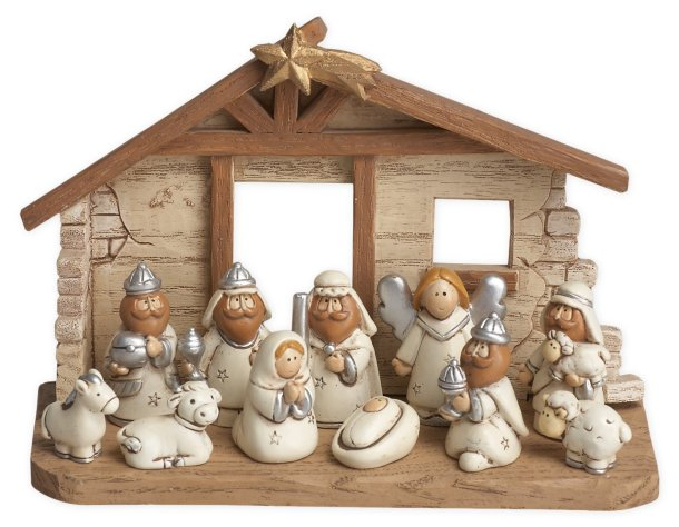 Kids nativity scene with movable parts #ad