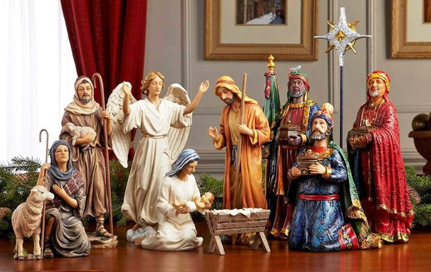 Nativity scene with pieces that look real to life #ad