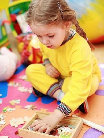 Preschoolers love doing puzzles!