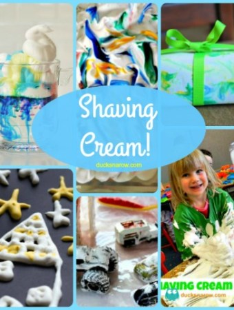 Shaving cream activities for kids