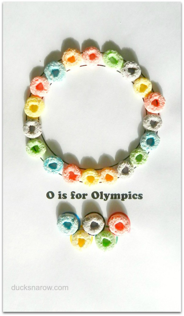 O is for Olympics preschool craft