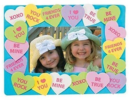 Conversation Heart picture frame kit for kids #ValentinesDay