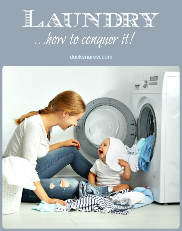 Laundry piling up? You can conquer it! #tips