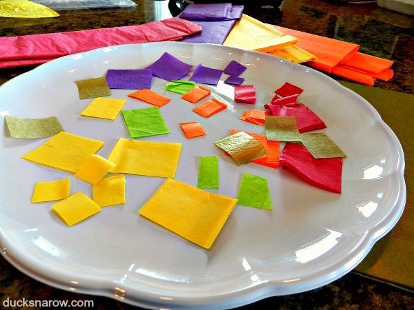 Tissue paper for making suncatchers