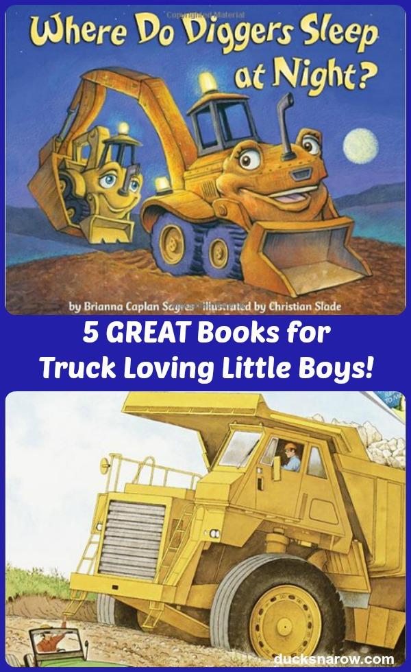 5 BEST Books For Little Boys That Love Trucks #ad