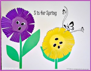 Easy preschool craft for S is for Spring lesson #kidscrafts