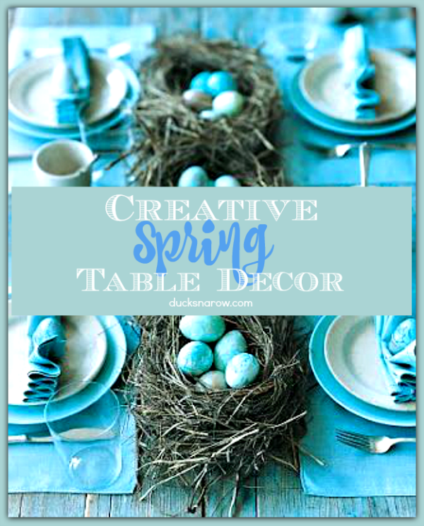 Make your Easter table look gorgeous with these great DIY ideas! #homedecor