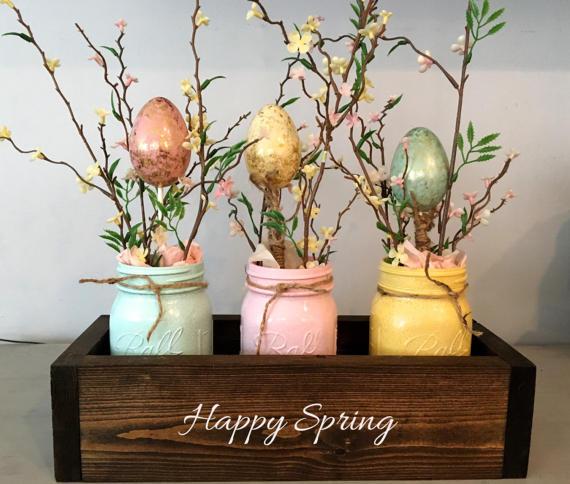 Mason Jar spring craft in a box #crafts