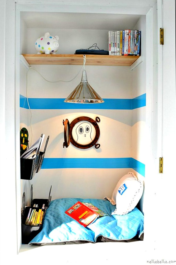 Reading nook for little boys