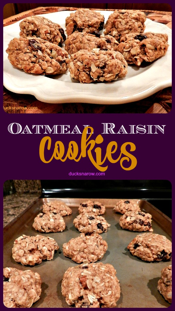 Classic recipe for oatmeal raisin walnut cookies #recipes