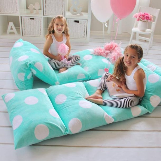 Butterfly craze floor pillows for kids rooms #ad