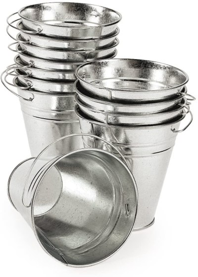 Galvanized buckets for crafts and plants #ad