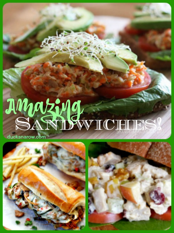 Sandwich lovers, you are gong to LOVE these amazing sandwich #recipes! #food