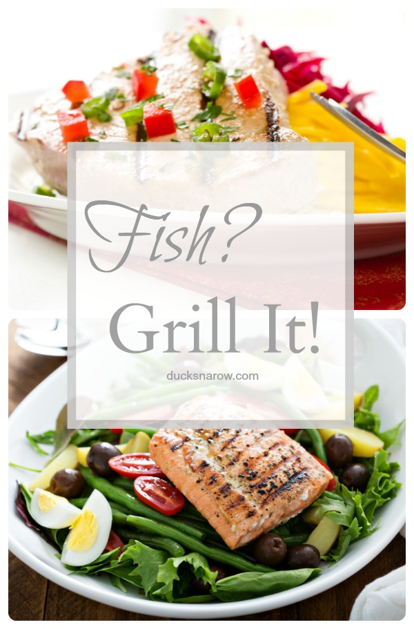 Grilled fish can taste delicious and is an excellent healthy choice, too #healthyeatng