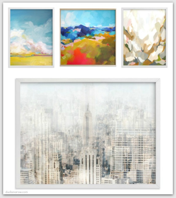Four unique works of art available at Minted dot com #ad