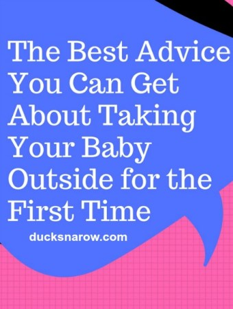 The best advice for new parents on taking their newborn out the first time #parenting