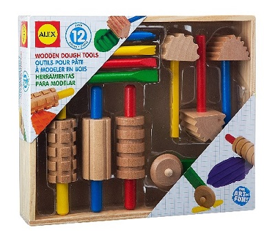 Alex Toys wooden modeling clay tool set #ad