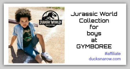 Jurassic World Collection of boys' clothing at Gymboree #dinosaurs #affiliate