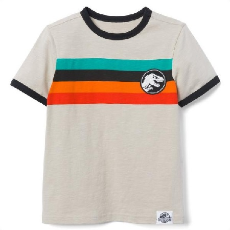 Stylish Jurassic World striped tshirt #affiliate