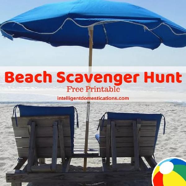 Beach scavenger hunt by Intelligent Domestications