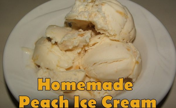 Peach pie ice cream recipe